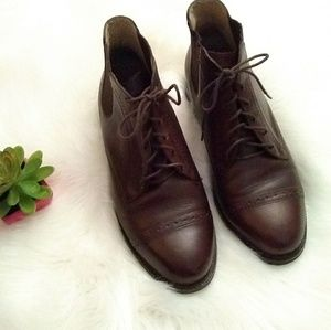 Ariat Leather lace up ankle boots brown sz 7.5 M